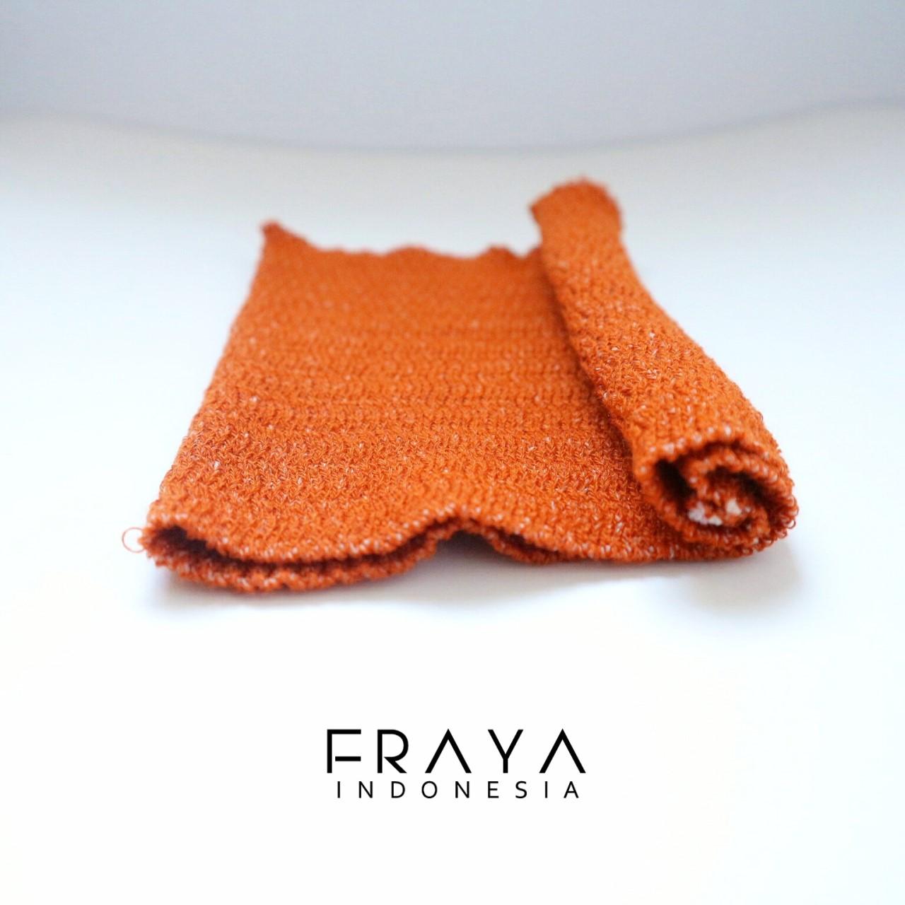 Fraya Indonesia Shop Line Bandana Rajut Anti Pusing Llinner Inner Orange