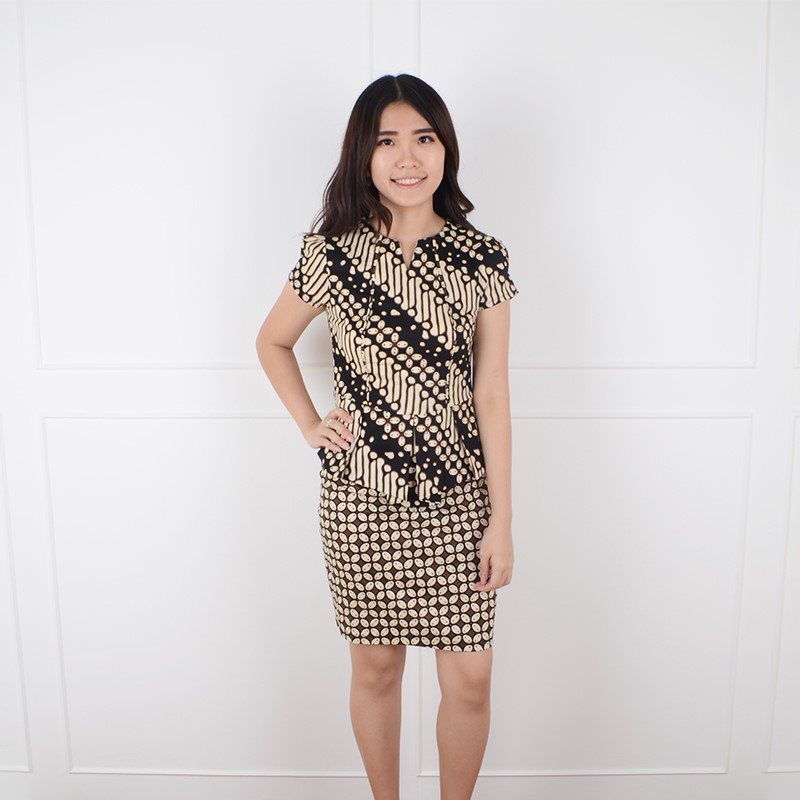 De Voile Dress Batik Wanita sv kavalin UP (Black) 8c58c57237