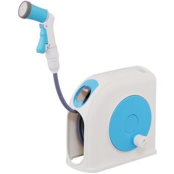 アイリスオーヤマ CPHR-10 ホワイト/ライトブルー [コンパクトホースリール 10M] その他のガーデン用品