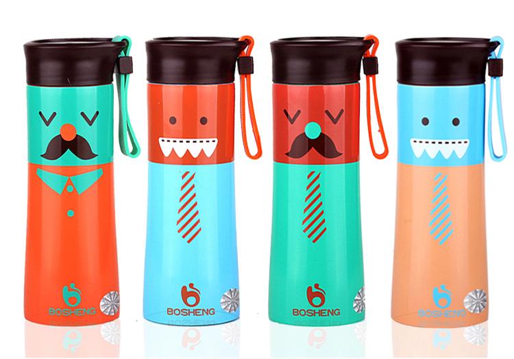 保溫瓶【KCW020】俏皮表情學士不鏽鋼保溫杯 320ml 雙層超真空保冷保熱 水瓶 瓶子 水壺 隨手杯-收納女王