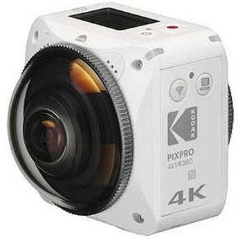 コダック マイクロSD対応・4K対応 360°アクションカメラ Kodak 4KVR360