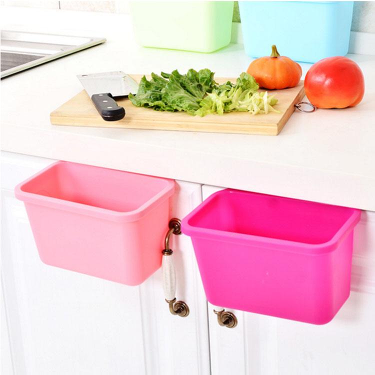 廚房用品【KFS050】可掛式廚房垃圾/收納桶(小)  廚房清潔 垃圾桶 可掛式垃圾桶 桌面收納盒 小物收納盒-收納女王