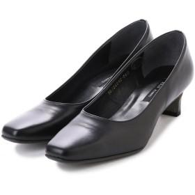 Simple Style 本革スクエアトゥパンプス Made in Japan (ブラック)