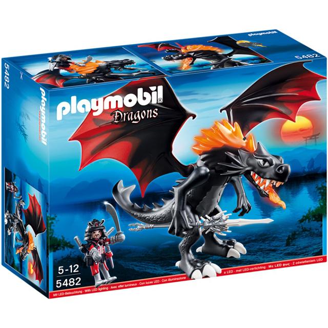 Playmobil 摩比 5482 龍騎士 黑色噴火龍