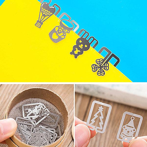 文具 可愛造型迴紋針(20枚入) 夾子 迷你 迴紋針 書本 書籤 標籤 記號 多款式 送禮小物【PMG067】收納女王