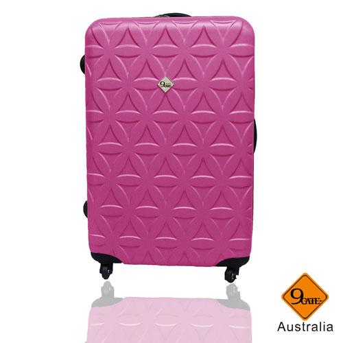Gate9花花系列ABS霧面24吋輕硬殼旅行箱/行李箱