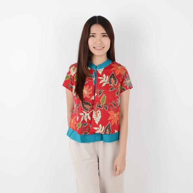 De Voile Atasan Batik Wanita Amira HLBT tp (Red)  Rp 100.000 cd806b5a54
