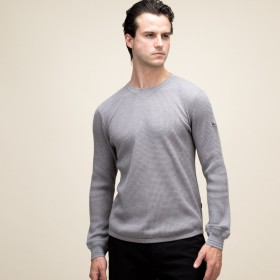 AIGLE メンズ メンズ 吸水速乾 長袖 ワッフルTシャツ ZTH001J GREY (004) Tシャツ