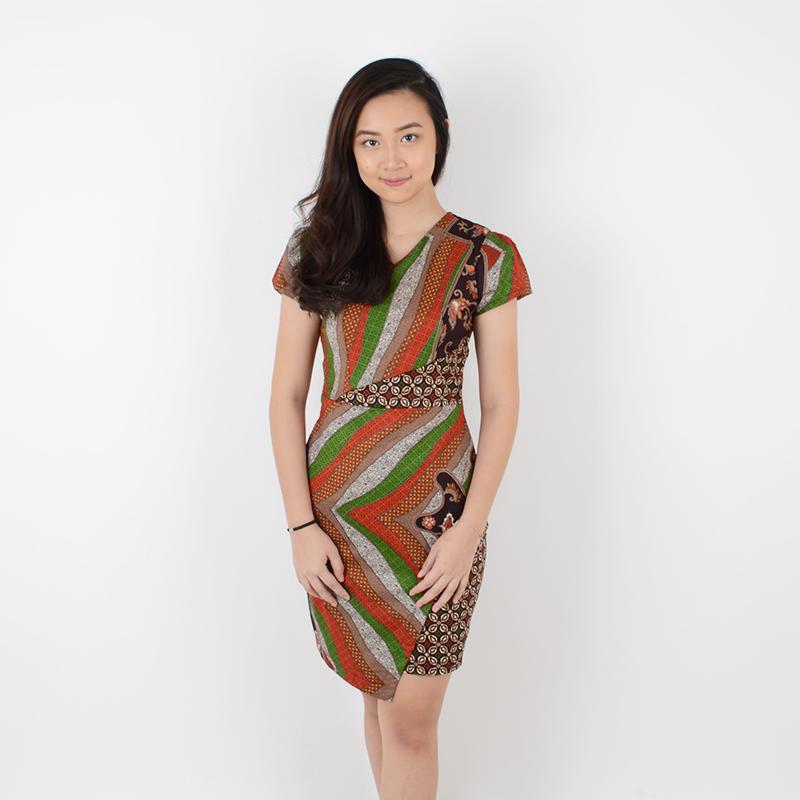 De Voile Dress Batik Wanita Smash Farah ds (Brick) 9790124177