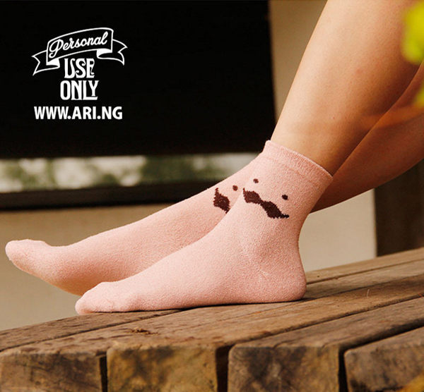 襪子【FSW030】可愛胡子圈圈紗中筒襪 長襪 中筒襪 螢光色 氣墊襪 純棉 毛巾襪 收納女王