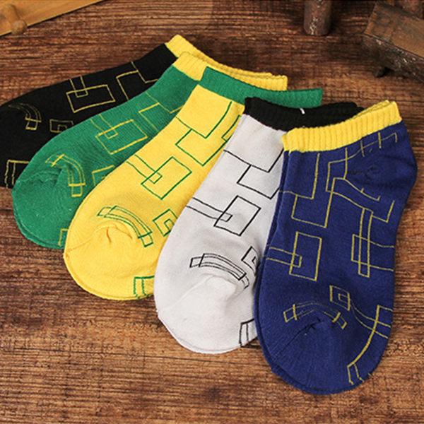 襪子 透氣吸汗船型襪 設計感格紋 舒適 親膚 運動鞋 慢跑鞋 白布鞋 配件 女襪 男襪 短襪 【FSW105】收納女王
