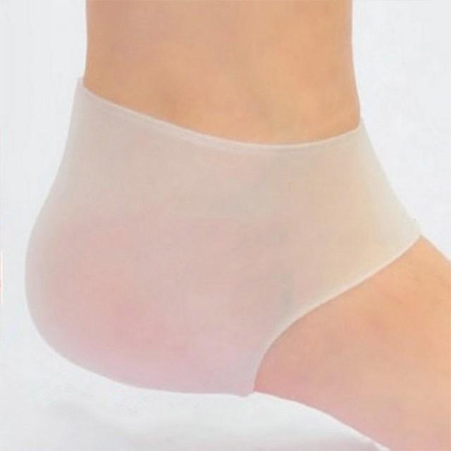 美容小物 矽膠足跟襪套 足部保養 腿部舒緩 緩解腳後跟疼痛 男女通用 柔軟彈性 後腳跟保護套 【FSW106】收納女王