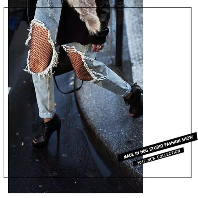 襪子 性感鏤空防勾絲網格褲襪 大網格/中網格/小網格 時尚 潮流 破牛仔褲必搭 褲襪 網襪 【FSW104】收納女王