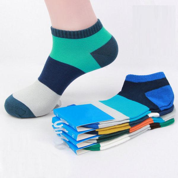 襪子【FSM005】男款拼色隱形襪 隱形襪 短襪 螢光色 氣墊襪 純棉 毛巾襪 收納女王王