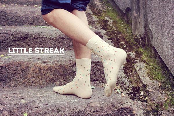 襪子【FSM008】彩色豎點男襪  長襪 中筒襪 螢光色 氣墊襪 純棉 毛巾襪 收納女王