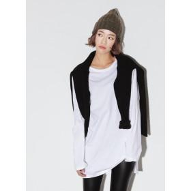 ○雑誌掲載商品○2TYPEオーバーサイズサイドスリットTシャツ・全4色・b46820