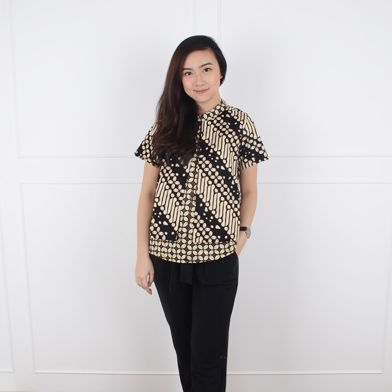 De Voile Atasan Batik Wanita Jumbo HLBT Kavalin tp (Black) 2b887c8458