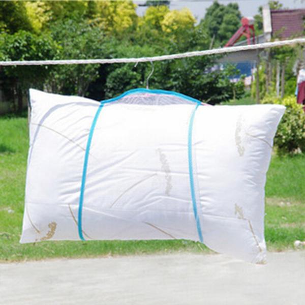 衣架 單層枕頭晾曬網套 約47x38cm 曬枕頭 曬靠墊 娃娃洗曬 好收納 折疊 輕巧 晾曬 【XYA027】收納女王