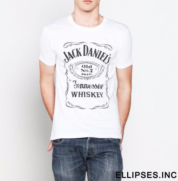 Tumblr Tee / T-Shirt / Kaos Pria Lengan Pendek Jackdaniels Warna Putih