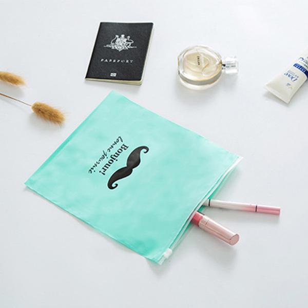 收納袋 鬍子旅行收納袋(21x24cm) 旅遊 行李箱 化妝品 整理袋 分類收納袋 旅行密封袋 【ZDZ019】收納女王