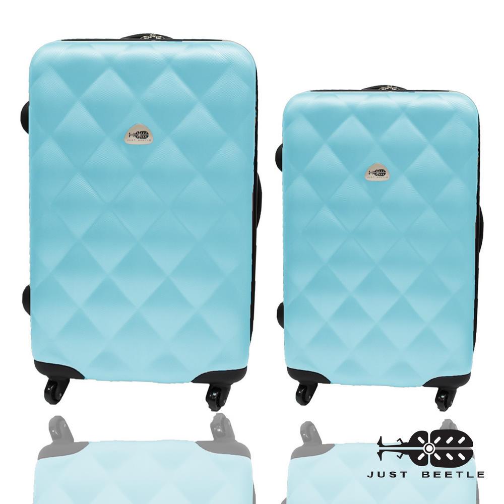 Just Beetle經典菱紋系列ABS材質超值兩件組28吋+24吋輕硬殼旅行箱/行李箱