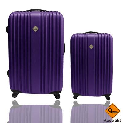 ✈✈Gate9五線譜系列ABS材質超值兩件組28吋+20吋旅行箱/行李箱