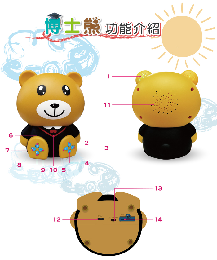 【特賣】博士熊幼兒啟蒙教育故事機