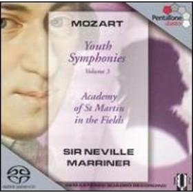 モーツァルト(1756-1791)/Sym.7 8 9 19: Marriner / Asmf (Hyb)