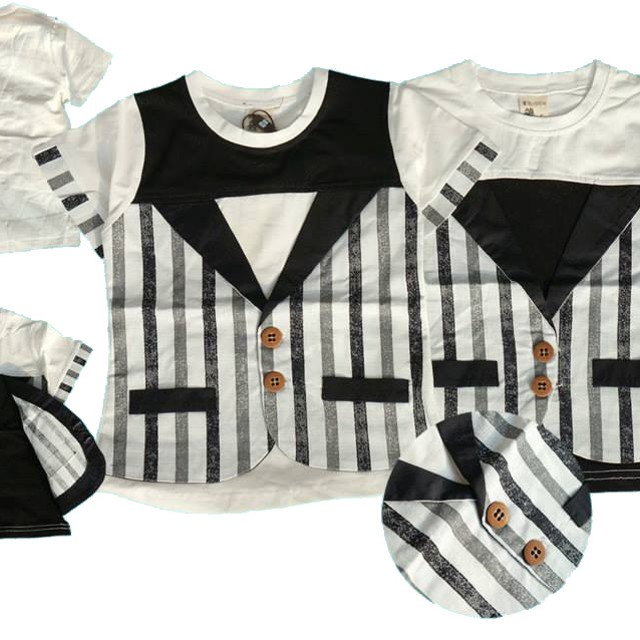Kaos anak cowok / Boy fashion top Stripped 2-7th (GZ3041): Rp