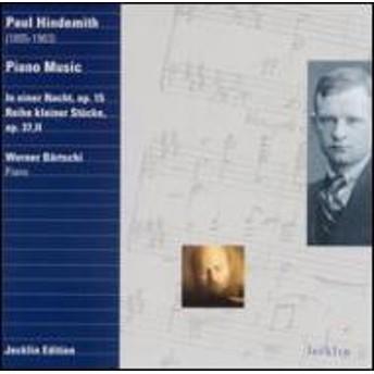 ヒンデミット(1895-1963)/Piano Works: Bartschi