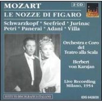 モーツァルト(1756-1791)/Le Nozze Di Figaro: Karajan / Teatro Alla Scala Schwarzkopf Panerai Etc