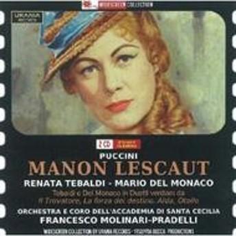 プッチーニ (1858-1924)/Manon Lescaut: Molinari-pradelli / St Cecilia O Tebaldi Del Monaco Corena