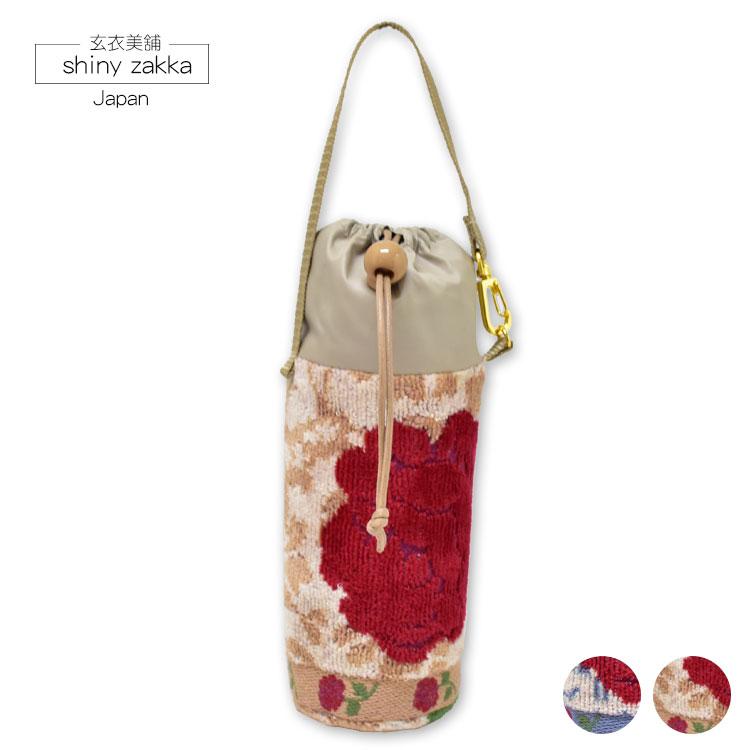 保冷保溫水壺袋-花朵圖案-日本製-玄衣美舖