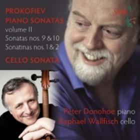 プロコフィエフ(1891-1953)/Piano Sonata 9 10 : Donohoe +cello Sonata: R.wallfisch(Vc)