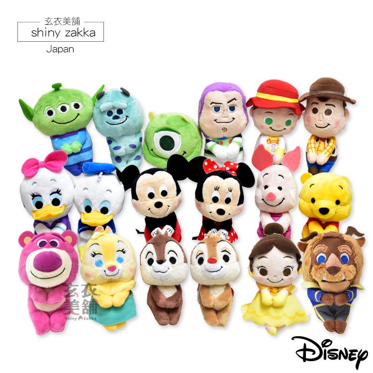 毛絨玩偶-日本迪士尼療癒Q版坐姿娃娃/擺飾-玄衣美舖