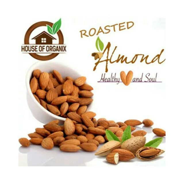 Natural Roasted Almond (Panggang) 250 Gr: Rp 60.000