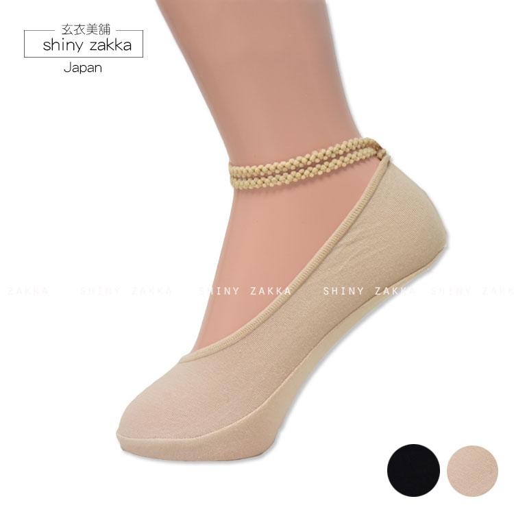 隱形襪-日本 舒適 透氣 小花雙綁帶襪-素面/二色-玄衣美舖