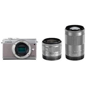 CANON EOS M100 G 15-45/55-200 ダブルズームキット グレー [ミラーレス一眼カメラ (2420万画素)] デジタル一眼カメラ
