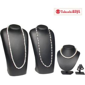 高島屋 大珠8-8.5mmあこや真珠ネックレスセット/淡水パールロングネックレス2本付き