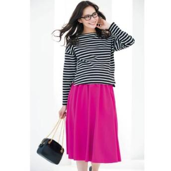 Petit Cocoon きれいめカラーのミモレ丈フレアスカート たまひよSHOP