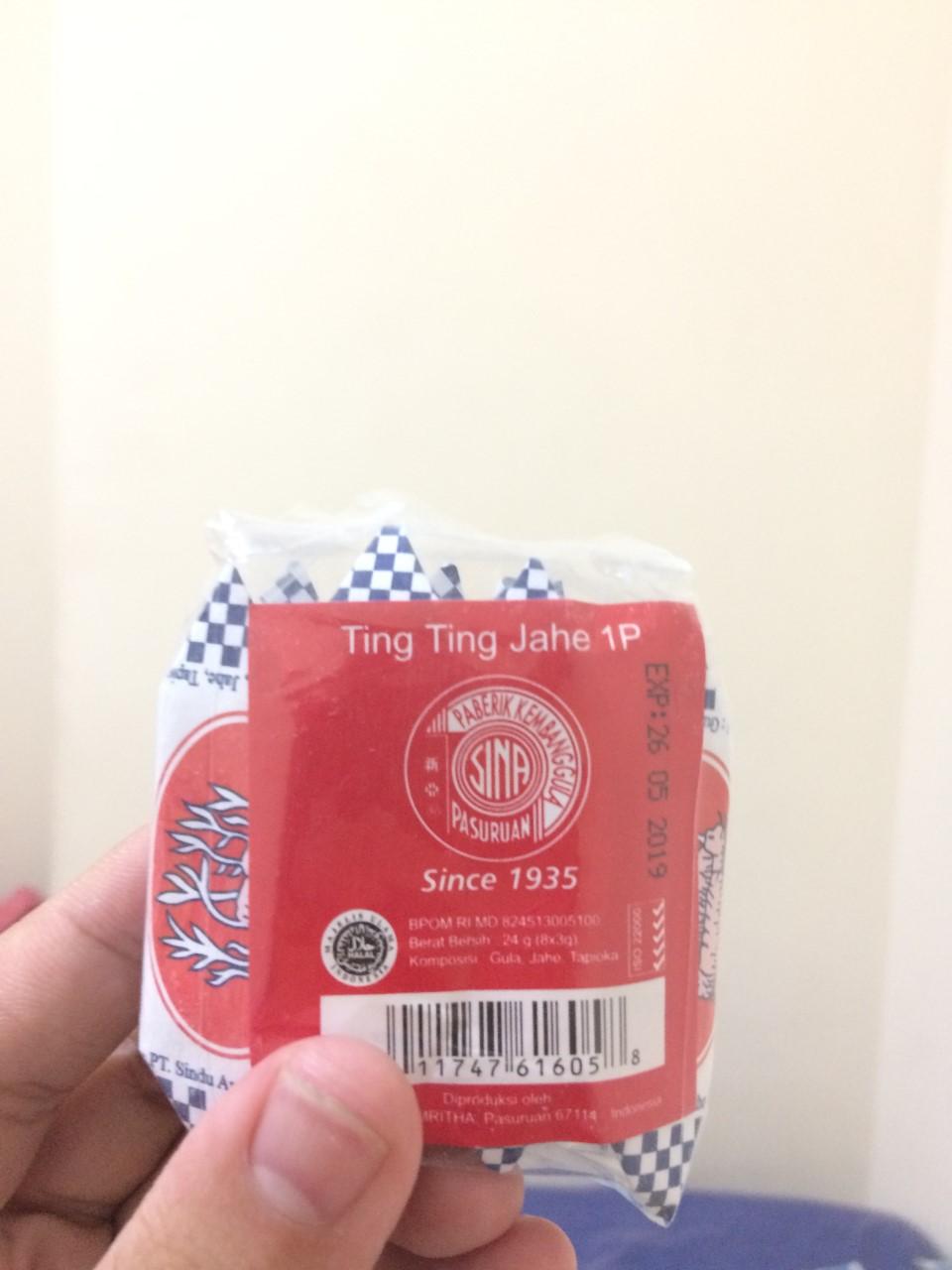 Jadoel Snack Shop Line Permen Sugus Ting Jahe 1p