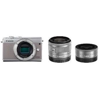 Canon ミラーレス一眼 EOS M100【ダブルレンズキット】 (グレー/ミラーレス一眼カメラ)