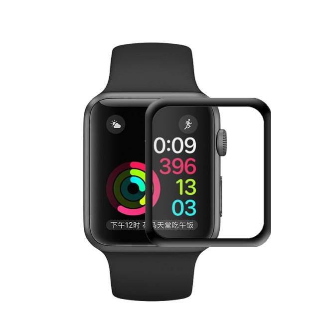 LP Full 3D Tempered Glass Screen Protector for Apple Watch 42mm - Hitam: Rp 120.000