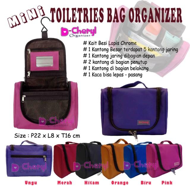 D'Cheryl Mini Toiletries Bag Organizer: Rp 115.000 Rp 90.000