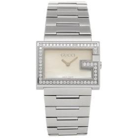 db9a5253bf57 【送料無料】グッチ GUCCI Gレクタングル ホワイト/シルバー レディースウォッチ/腕時計