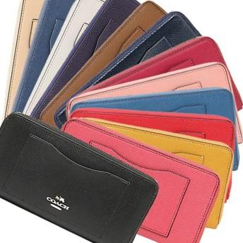 コーチ 財布 アウトレット COACH F54007 クロスグレインレザー アコーディオン ジップウォレット 長財布