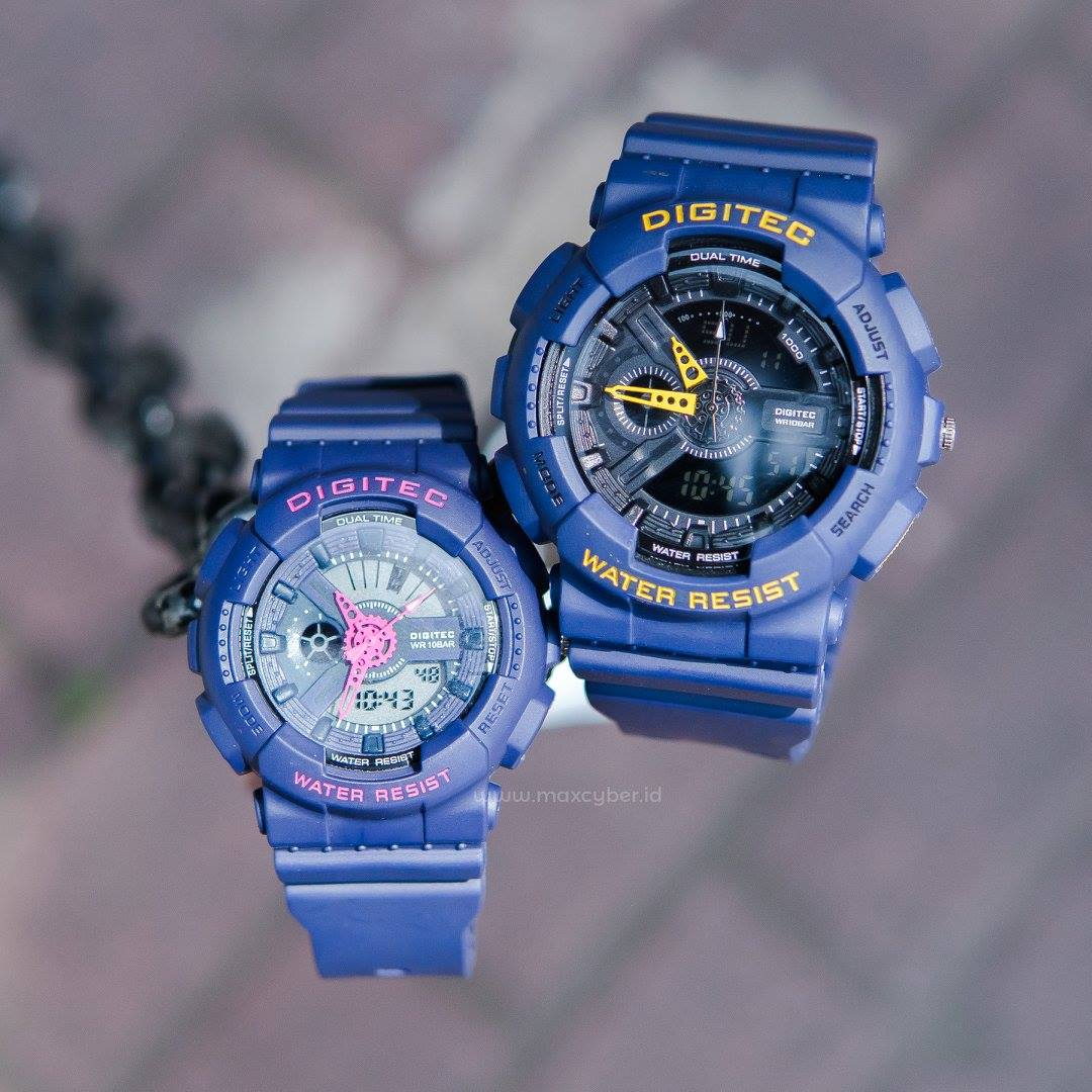 Maxcyber Store Shop Line Jam Tangan Sport Digitec Couple Original Black Grey Jamtangan Fashion Rubber Sporty Waterproof Ori Ginalbergaransi