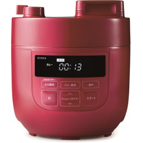 siroca SP-D131-R レッド クックマイスター [電気圧力鍋 (スロー調理機能付き)] その他調理家電