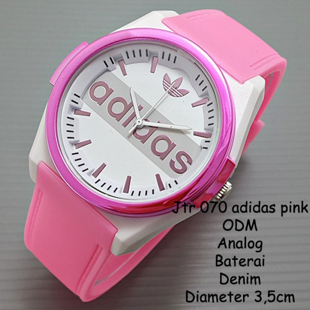 w6-11| jam tangan wanita / cewek / Adidas jtr 070 pink: Rp 75.000 Rp 52.500