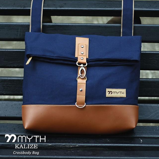 Myth Bags Kalize Navy Blue   Brown - Sling Bags - Tas Selempang  Rp 210.000  Rp 195.300 8443ee7d19